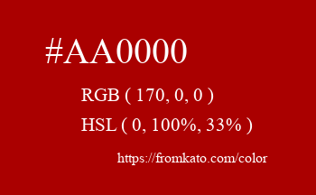 Color: #aa0000