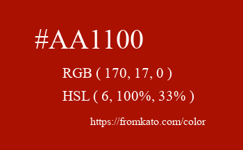 Color: #aa1100