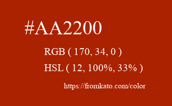 Color: #aa2200