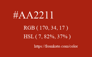 Color: #aa2211