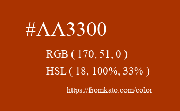 Color: #aa3300
