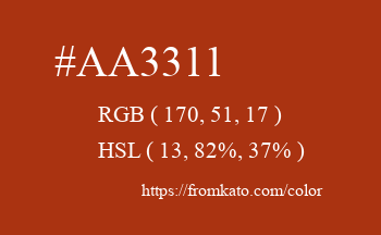 Color: #aa3311