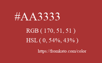 Color: #aa3333