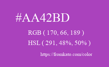 Color: #aa42bd