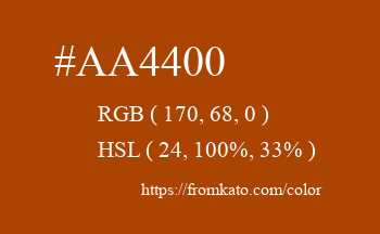 Color: #aa4400