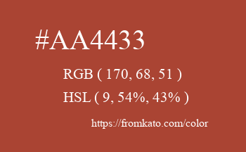 Color: #aa4433