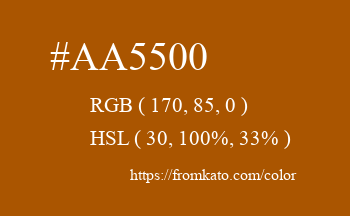 Color: #aa5500