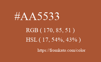 Color: #aa5533