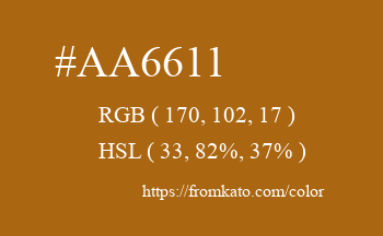 Color: #aa6611