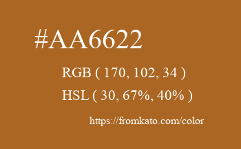 Color: #aa6622