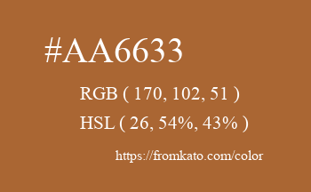 Color: #aa6633