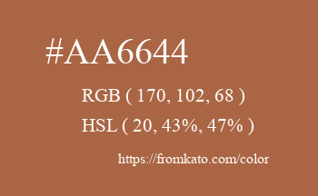 Color: #aa6644