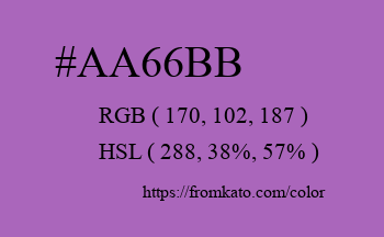 Color: #aa66bb