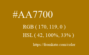 Color: #aa7700