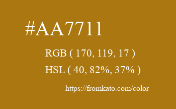Color: #aa7711