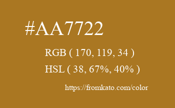 Color: #aa7722