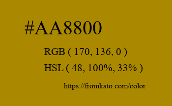 Color: #aa8800