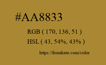 Color: #aa8833