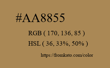 Color: #aa8855