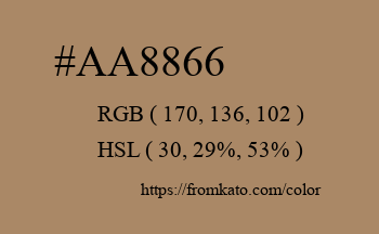 Color: #aa8866