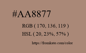 Color: #aa8877