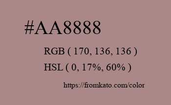 Color: #aa8888