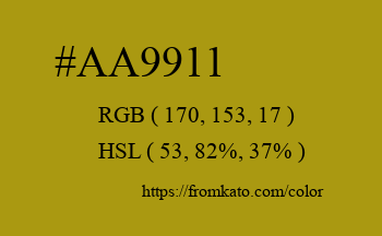 Color: #aa9911