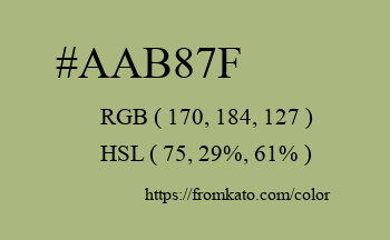 Color: #aab87f
