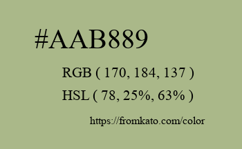 Color: #aab889