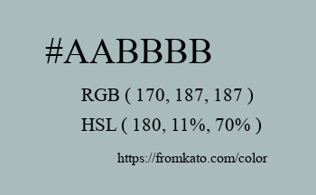 Color: #aabbbb