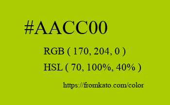 Color: #aacc00