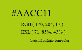 Color: #aacc11