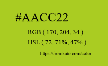 Color: #aacc22