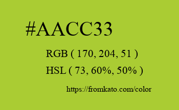 Color: #aacc33
