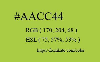 Color: #aacc44
