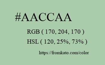 Color: #aaccaa