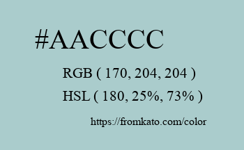 Color: #aacccc