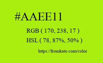 Color: #aaee11