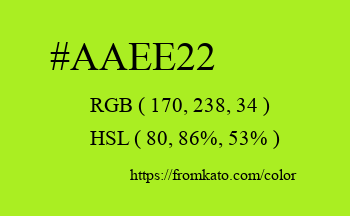 Color: #aaee22