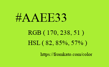 Color: #aaee33