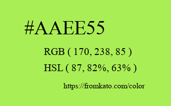 Color: #aaee55