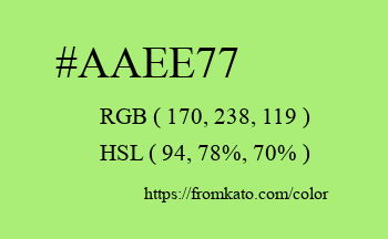 Color: #aaee77
