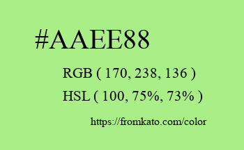 Color: #aaee88