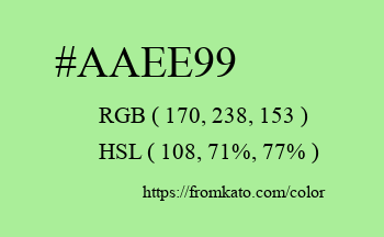 Color: #aaee99