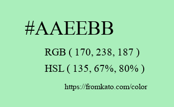 Color: #aaeebb