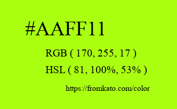 Color: #aaff11