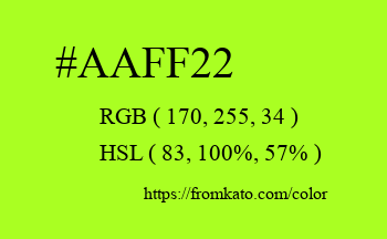 Color: #aaff22