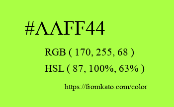Color: #aaff44