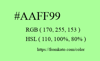 Color: #aaff99