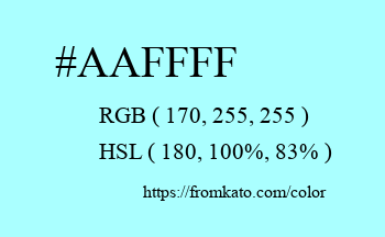 Color: #aaffff